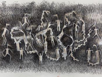 Deplorables 8, Ink on Paper